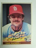 1984 Donruss Dave Rucker Autograph Cardinals Signed Card Tigers Phillies Auto