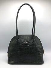 Vintage Mulberry Congo Leather Shoulder Bag Medium Large Handbag Dark Green