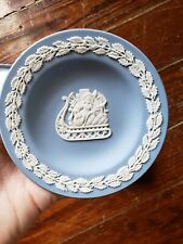 Wedgewood Blue Christmas Sleigh Plate New with box