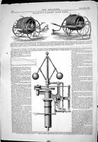Old 1869 Headly Patent Hose Reel Umpherston Governor Cut-Off Gear Eng Victorian