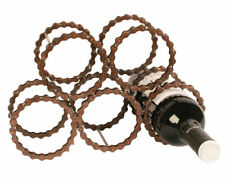 Fairtrade Recycled bicycle wine rack made from reclaimed bicycle chains.