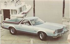 1977 Ford Ranchero GT Automobile Advertising Postcard