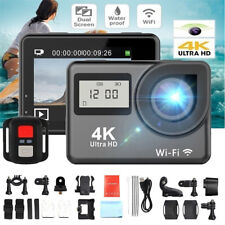 4K 1080P HD 2'' Dual Screen Sport Action Camera DV WiFi Waterproof As Go Pro RA