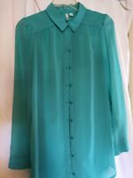 Frenchi Long Sleeve Top Women's Size Small