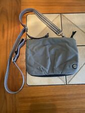 LULULEMON Cross Body bag purse Grey Black
