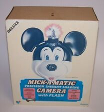 Disney Deluxe Mickey Mick-A-Matic Precision Instant Loading Camera w/Flash NIB
