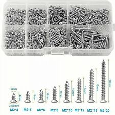 Nickel Plated Carbon Steel Wood Screw Assortment Self Tapping Small Metal Set