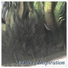 BLACK/BRONZE Rooster feathers sewn on fringe/ribbon/trim(price for 30cm)