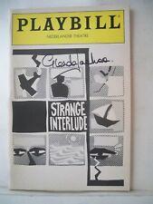 STRANGE INTERLUDE Playbill GLENDA JACKSON Autographed NYC 1985