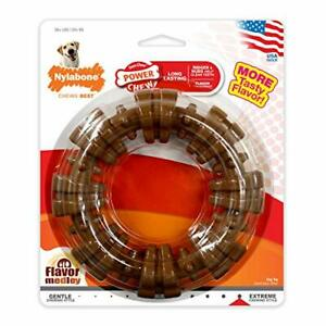 Nylabone Power Chew Textured Dog Chew Ring Toy Flavor Medley Flavor X-Large/S...