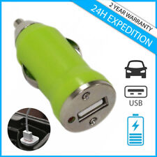A+ CAR CHARGER CHARGING CHARGEUR VOITURE USB GREEN FOR IPHONE IPAD IPOD ANDROID