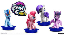 Lot de 4 figurines My Little Pony Movie - Cinema promotion toppers cup - Hasbro