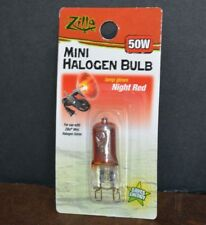 MINI HALOGEN BULB 50 W LAMP GLOWS NIGHT RED SAVES ENERGY, ( ZILLA )