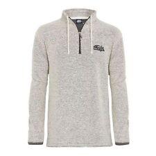 Weird Fish Zip Neck Plain Sweatshirts for Men