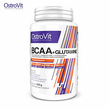 BCAA + L-Glutamine 200g Anticatabolic Muscle Growth Amino Acids Whey Recovery