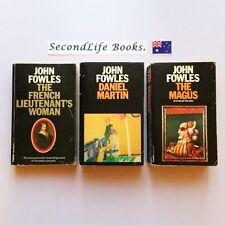 x3 JOHN FOWLES BOOKS ~ French Lieutenant's Woman, Daniel Martin & The Magus.