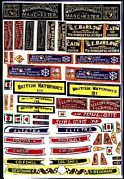 Waterslide Transfers motor Butty Boat Canal FT1 Colour OO Scale Models Decals