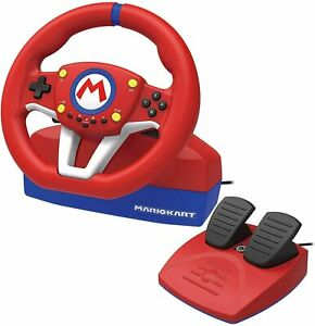 Hori Volant Mario Kart Pro Mini Nintendo Switch / PC Bouton M Habillée Y Pédales