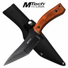"""MTECH 11"""" Full Tang Hunting Fixed Blade EDC Knife Dagger Wood Handle Outdoo 88BR"""