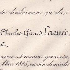 François Charles Gerard Lacuée De Cessac Paris 1885