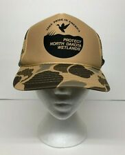 Camouflage CAMO Hat Cap Mesh Protect North Dakota Wetlands America Hunting Fish