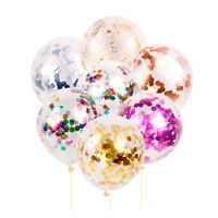 5Pcs Clear 12'' Foil Foam Confetti Balloon Wedding Birthday Party Decoration
