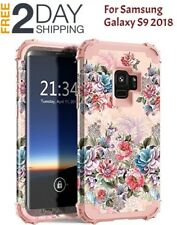 Samsung Galaxy S9 Shockproof Silicone Rubber Bumper+Hard Protective Cover Case