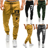 Men Casual Sport Long Pants Slim Fit Trousers Running Joggers Gym Sweatpants