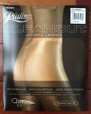 NEW Platino NO waistband CLEANCUT Sheer to Waist Pantyhose/Tights *Caresse*  *L*