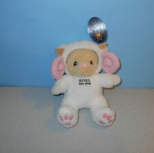 "New 2001 Enesco Zodiac Costume Bear Aries The Ram 10"" Stuffed Plush Animal"