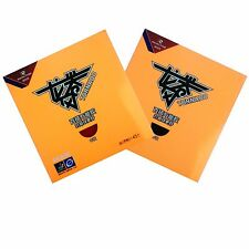 2 x REACTOR TORNADO TABLE TENNIS RUBBER FOR 40+ BALL ( 2 SHEETS : RED + BLACK )