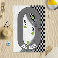 Personalised Kids Racetrack Microfibre Beach Towel Swimming Gift Beach Holiday