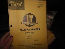 Vtg I & T Shop Service Manual AC-14 Allis-Chalmers D-10 D-12 Tractor Models O2