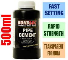 Bondloc 500 ml tuyau de liaison ciment/Adhésive/Solvant/Colle agent POUR PVC/ABS/vinyle