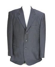 Autobahn Germany Mens Charcoal Gray Sports Jacket Blazer Three Button Size 44