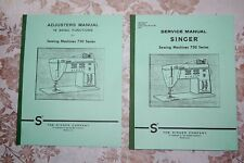 2-Book Library: Service Manuals for Singer Sewing Machines Series 750 756 & 758