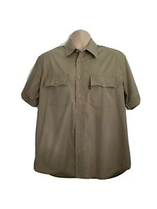 Levis Mens Large Immaculate Vintage Sta Prest Coffee Shortsleeve Shirt