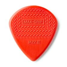 Dunlop 471R3N Nylon Jazz III Max Grip Guitar Picks Red 24-Pack