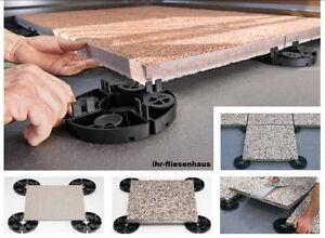 150 Stück Stelzlager Plattenlager EH20 mit fester Höhe 20mm für Terrassenplatten