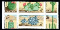 EFO 1942-5 PERF SHIFT BLOCK OF 4 SLICES THROUGH DESERT CACTUS PLANTS!  - SCARCE