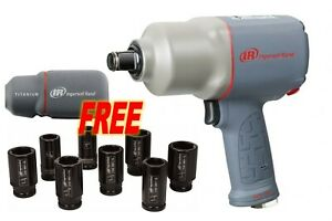 """Ingersoll Rand 2145QiMAX Quiet 3/4"""" Impact Wrench w/ FREE Boot & Socket Set"""