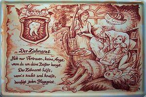Beruf Zahnarzt Motiv 1 Blechschild Schild Blech Metall Metal Tin Sign 20 x 30 cm