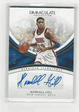 2016-17 IMMACULATE HERALDED AUTO #HS-KGI KENDALL GILL  #d 71/99 NETS