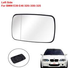 Left Mirror Glass For BMW E39 E46 320i 330i 325 White Tinted W/Holder Heated