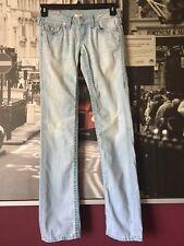 TRUE RELIGION Billy Super T Women's Jeans Size 25 Denim Light Blue Jeans RN# 11