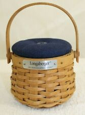 Longaberger 2003 Hostess Appreciation Basket Combo Indigo Pincushion Lid