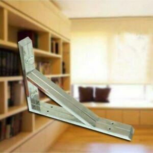 "PREMIUM 2x Large STAINLESS STEEL Shelf Bracket Support Wall Bathroom 13.5"" 35cm"