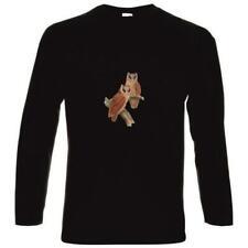 Caballeros señora camuflaje manga larga camisa lechuzas must have estampados Cool tendencia tshirt