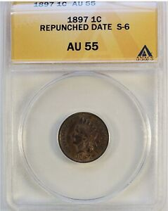 1897 Indian Head RPD (S-6) ANACS AU55