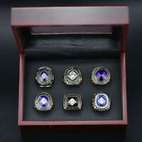 A Set Los Angeles Dodgers World Series Championship Rings + Wooden Display Case